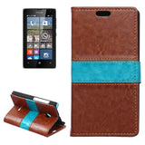 Buy Online  Crazy Horse Texture Horizontal Flip Color Matching Leather Case with Card Slots & Wallet & Holder for Microsoft Lumia 532(Brown) Microsoft Cases - MEGA Discount Online Store Ghana