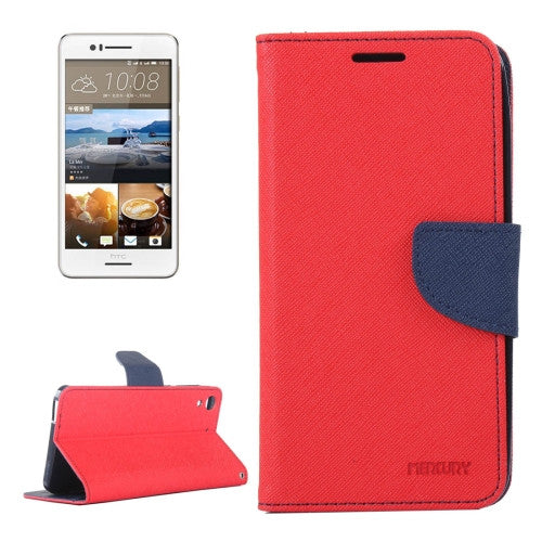Buy Online  HTC Desire 728 Color Matching Cross Texture Flip Leather Case with Holder & Card Slots & Wallet(Red) HTC Cases - MEGA Discount Online Store Ghana