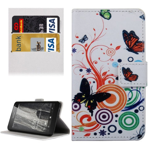 Buy Online  Butterfly Dancing Pattern Horizontal Flip Leather Case with Holder & Card Slots & Wallet for Microsoft Lumia 650 Microsoft Cases - MEGA Discount Online Store Ghana
