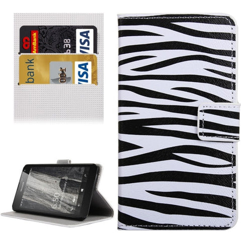 Buy Online  Zebra Pattern Horizontal Flip Leather Case with Holder & Card Slots & Wallet for Microsoft Lumia 650 Microsoft Cases - MEGA Discount Online Store Ghana