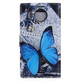 Buy Online  Blue Butterfly Pattern Horizontal Flip Leather Case with Holder & Card Slots & Wallet for Microsoft Lumia 950 XL Microsoft Cases - MEGA Discount Online Store Ghana