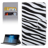 Buy Online  Zebra Stripe Pattern Horizontal Flip Leather Case with Holder & Card Slots & Wallet for Microsoft Lumia 950 Microsoft Cases - MEGA Discount Online Store Ghana