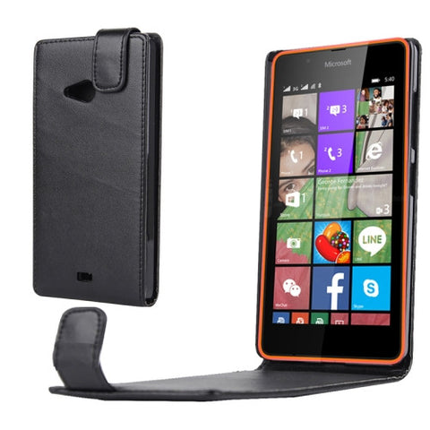 Buy Online  Nappa Texture Vertical Flip Magnetic Snap Leather Case for Microsoft Lumia 540(Black) Microsoft Cases - MEGA Discount Online Store Ghana