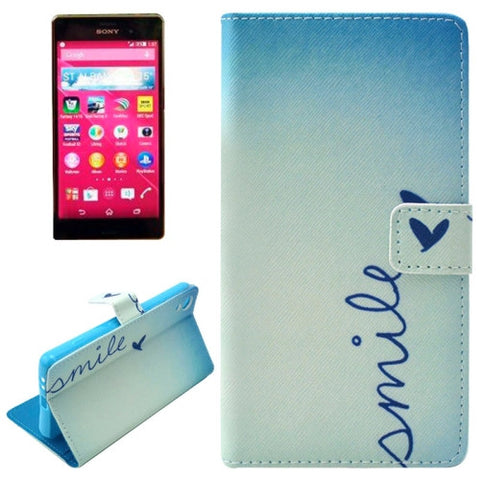SMILE Pattern Horizontal Flip Magnetic Buckle Leather Case with Card Slots & Wallet & Holder for Sony Xperia Z3+ Sony Cases - MEGA Discount Online Store Ghana