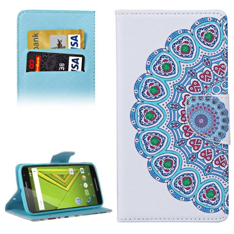 Buy Online  National Style Flower Bud Pattern Horizontal Flip Leather Case with Holder & Card Slots & Wallet for Motorola Moto X Style Motorola Cases - MEGA Discount Online Store Ghana