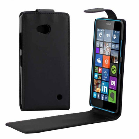 Buy Online  Vertical Flip Magnetic Button Leather Case for Microsoft Lumia 640 Microsoft Cases - MEGA Discount Online Store Ghana