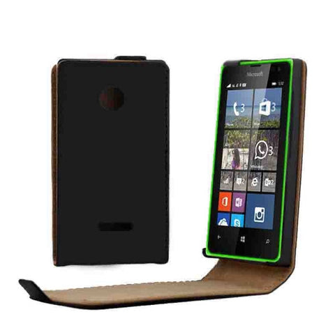 Buy Online  Vertical Flip MaVertical Flip Magnetic Button Leather Case for Microsoft Lumia 532(Black)gnetic Button Leather Case for Microsoft Lumia 532(Black) Microsoft Covers - MEGA Discount Online Store Ghana