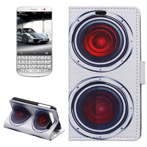 Buy Online  Loudspeaker Pattern Horizontal Flip Magnetic Buckle Leather Cover with Card Slots & Wallet & Holder for Blackberry Classic / Q20 Blackberry Cases - MEGA Discount Online Store Ghana