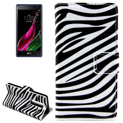 Buy Online  Zebra Patterns Horizontal Flip Leather Case with Card Slots and Holder for LG Class / LG Zero LG Cases - MEGA Discount Online Store Ghana