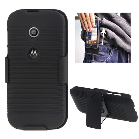 Buy Online  Plastic Case with 360 Degree Rotating Clip and Holder for Motorola Moto E / XT1021(Black) Motorola Cases - MEGA Discount Online Store Ghana