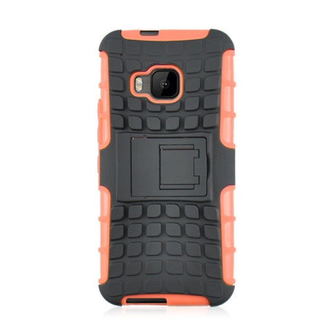 Buy Online  2 in 1 Tyre Texture Back Cover Protective Case with Holder for HTC One M9(Orange) HTC Cases - MEGA Discount Online Store Ghana