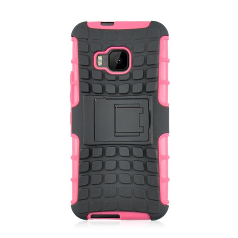 Buy Online  2 in 1 Tyre Texture Back Cover Protective Cover with Holder for HTC One M9(Pink) HTC Cases - MEGA Discount Online Store Ghana