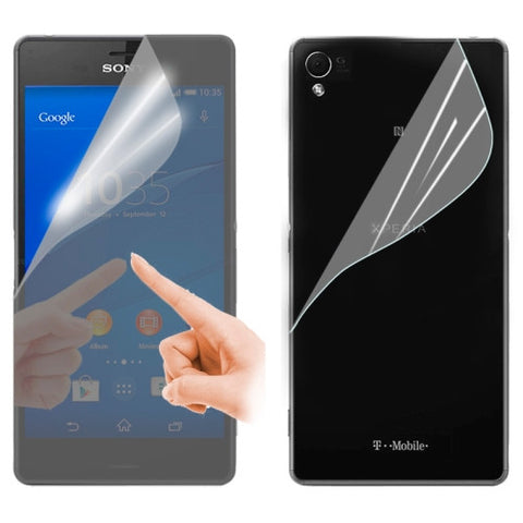 2 in 1 (Front Mirror Screen + Back Clear Cover) Screen Protector for Sony Xperia Z3 / D6653 Screen Protectors - MEGA Discount Online Store Ghana