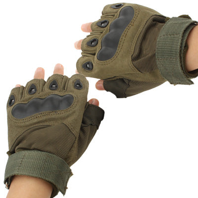 Outdoors Gloves Half Finger, Olive Green (Original Version ) Masks & Gloves - MEGA Discount Online Store Ghana