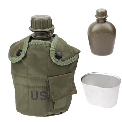Buy Online  3-in-1 1L US Army Military Outdoor Water Bottle Drinking Container with Canteen & Nylon Carrying Pouch(Army Green) Bags & Backpacks - MEGA Discount Online Store Ghana