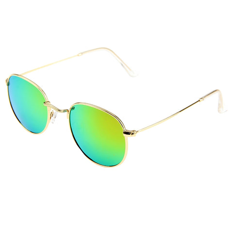 f5c2592f48ac Buy Online UV400 UV Protection Metal Frame AC Lens Sunglasses (Gold + Pink)  Sunglasses