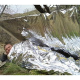 Compact Lightweight Aluminized Windproof Waterproof Emergency Blanket Body Wrap Survival Sheet for Outdoor 140 x 210cm Outdoor & Camping - MEGA Discount Online Store Ghana