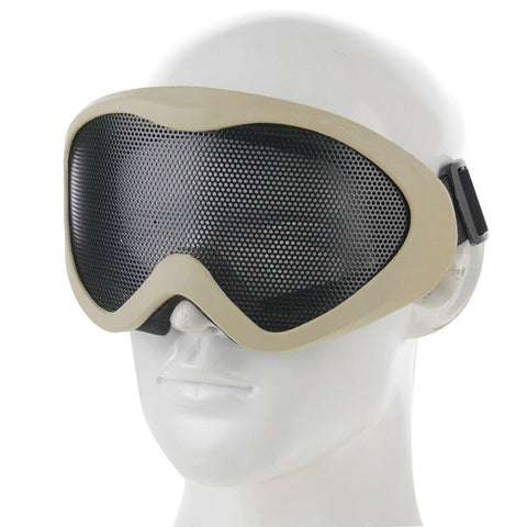 Outdoor Protective Goggles No Fog Steel Mesh Eye Guard(Khaki) Sunglasses - MEGA Discount Online Store Ghana