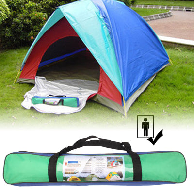 Quick Setting Dome Style 1-Person Camping Tent Pack with Carrying Bag for Outdoor Camping, Random Color Delivery