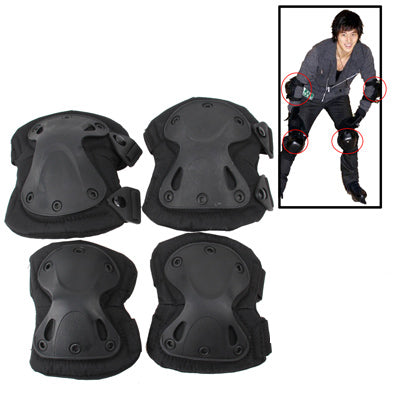 Buy Online  Unique X-shaped Couples Hatch XTAK Tactical Knee and Elbow Pads Protective Gear(Black) Bicycle Accessories - MEGA Discount Online Store Ghana