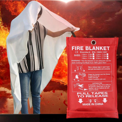 Emergency Survival Fire Blanket Shelter Safety Protector Extinguishers Tent, Size: 1*1m
