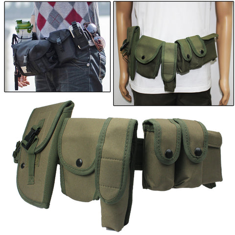Buy Online  Multi-function Six Pockets Storage Waist Bag for Outdoor Activities(Army Green) Bags & Backpacks - MEGA Discount Online Store Ghana