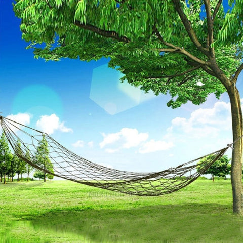 Buy Online  Portable Camping Outdoor Mesh Nylon Hammock - Army Green Outdoor & Camping - MEGA Discount Online Store Ghana