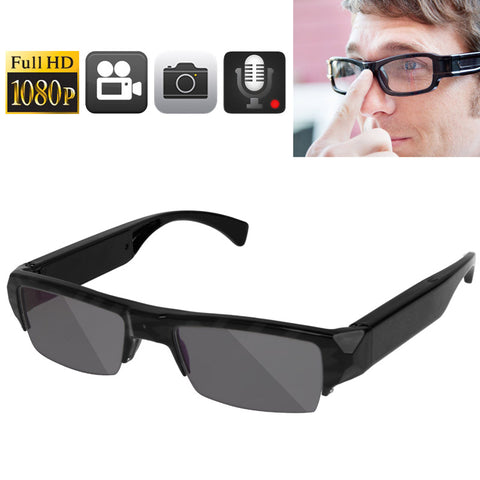 Full HD 1080P 5.0 Mega Pixels CMOS Glasses / Mini DVR Recorder Hidden Camera with Audio / Video Recording / Photo Function, Support TF Card up to 32GB (Sunglasses)(Black) Camera - MEGA Discount Online Store Ghana