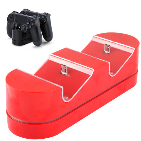 2 x USB Charging Dock Station Stand / Game Handle Controller Charging Seat with LED for PS4(Red) Play Station 4 Accessories - MEGA Discount Online Store Ghana