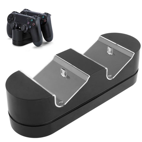 Buy Online  2 x USB Charging Dock Station Stand / Game Handle Controller Charging Seat with LED for PS4(Black) Play Station 4 Accessories - MEGA Discount Online Store Ghana