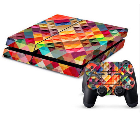 Buy Online  Color Grid Pattern Protective Skin Sticker Cover Skin Sticker for PS4 Game Console Play Station 4 Accessories - MEGA Discount Online Store Ghana