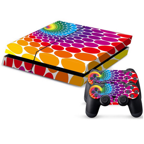 Buy Online  Color Dot Pattern Protective Skin Sticker Cover Skin Sticker for PS4 Game Console Play Station 4 Accessories - MEGA Discount Online Store Ghana