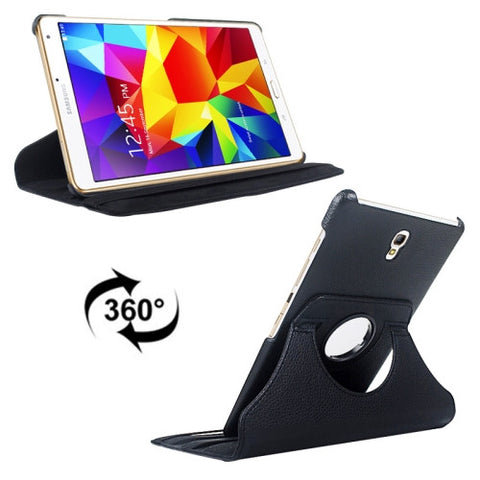 Litchi Texture 360 Degree Rotation Leather Case with 2 Gears Holder & Sleep / Wake-up Function for Samsung Galaxy Tab S 8.4 / T700 / T705(Black) Samsung Cases - MEGA Discount Online Store Ghana