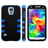 2-color Series Plastic + Silicone Combination Cover for Samsung Galaxy S5 / G900(Blue) Samsung Cases - MEGA Discount Online Store Ghana