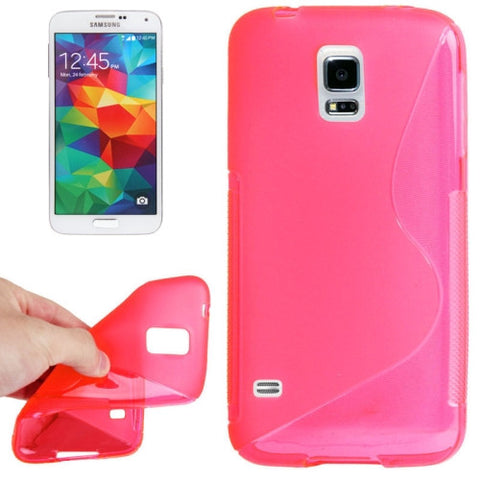 S Line Anti-skid TPU Protective Cover for Samsung Galaxy S5 / G900 (Pink) Samsung Cases - MEGA Discount Online Store Ghana