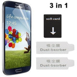 Buy Online  3 in 1 (High Quality Anti Glare LCD Screen Protector + Soft card + Dust-bsorber ) for Samsung Galaxy S IV / i9500 (Japan Materials) Screen Protectors - MEGA Discount Online Store Ghana