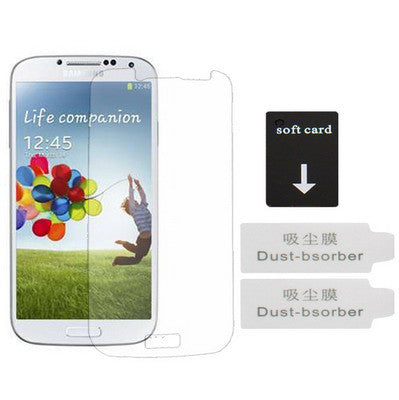 Buy Online  3 in 1 ( Clear LCD Screen Protector + Soft card + Dust-bsorber ) for Samsung Galaxy S IV / i9500 (Taiwan Materials) Screen Protectors - MEGA Discount Online Store Ghana