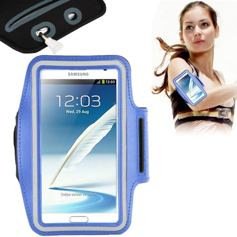 Buy Online  Universal PU Sports Armband Case with Earphone Hole for Samsung Galaxy Note 4 / N910 / Note III / N9000 / II / N7100 / i9220 / N7000 / N7005 / Sony Z2 / Z1 (Blue) Universal Cases - MEGA Discount Online Store Ghana