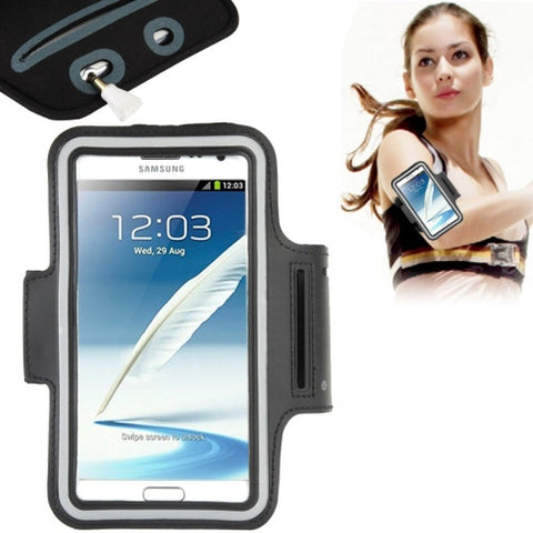 Buy Online  Universal PU Sports Armband Case with Earphone Hole for Samsung Galaxy Note 5 / 4 / Note III / II / S6 EDGE PLUS, Sony Z2 / Z1(Black) Universal Cases - MEGA Discount Online Store Ghana