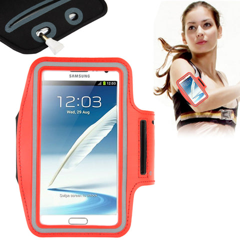 Buy Online  Universal PU Sports Armband Case with Earphone Hole for Samsung Galaxy Note 4 / N910 / Note III / N9000 / II / N7100 / i9220 / N7000 / N7005 / Sony Z2 / Z1(Red) Universal Cases - MEGA Discount Online Store Ghana