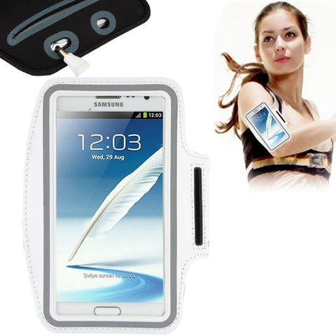 Buy Online  Universal PU Sports Armband Case with Earphone Hole for Samsung Galaxy Note 4 / N910 / Note III / N9000 / II / N7100 / i9220 / N7000 / N7005 / Sony Z2 / Z1 (Silver Grey) Universal Cases - MEGA Discount Online Store Ghana