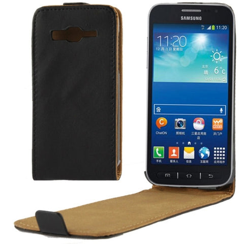 Buy Online  Vertical Flip Leather Magnetic Buckle Case for Samsung GALAXY S4 Active mini / i8580 (Black) Samsung Cases - MEGA Discount Online Store Ghana