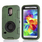 Buy Online  Shockproof Hybrid Silicone Plastic Cover with Ring Holder & Screen Protector for Samsung Galaxy S5 / G900 (Army Green) Samsung Cases - MEGA Discount Online Store Ghana