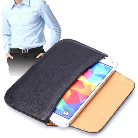 Buy Online  Universal Litchi Texture Horizontal Style Waist Bag Leather Cover for Samsung Galaxy S6 / S5 / G900 / i9082(Black) Universal Cases - MEGA Discount Online Store Ghana