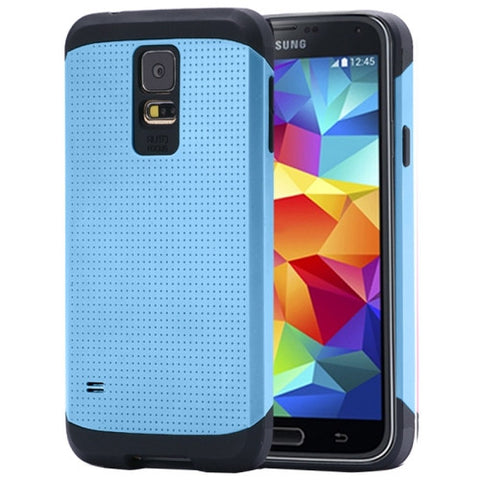 Tough Armor Mesh Plastic + TPU Combination Case for Samsung Galaxy S5 / G900 (Blue) Samsung Cases - MEGA Discount Online Store Ghana