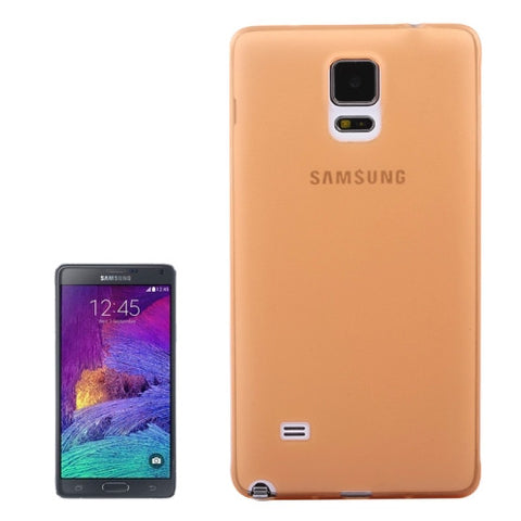 Buy Online  0.3mm Ultra-thin Frosted TPU Cover for Samsung Galaxy Note 4(Orange) Samsung Cases - MEGA Discount Online Store Ghana
