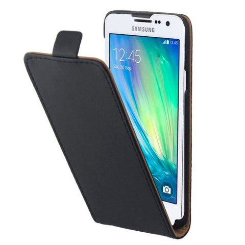 Vertical Flip Magnetic Button Leather Case for Samsung Galaxy A3 / A300(Black) Samsung Cases - MEGA Discount Online Store Ghana