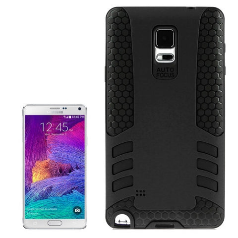 2-color PC + Silicone Combination Cover for Samsung Galaxy Note 4 / N910(Black) Samsung Cases - MEGA Discount Online Store Ghana