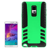 2-color PC + Silicone Combination Cover for Samsung Galaxy Note 4 / N910(Green) Samsung Cases - MEGA Discount Online Store Ghana