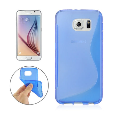 Buy Online  Samsung Galaxy S6 / G920 S Line Anti-slip Frosted TPU Protective Case (Blue) Samsung Cases - MEGA Discount Online Store Ghana